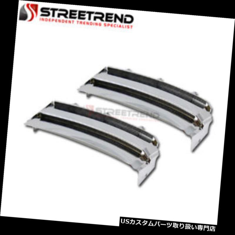 Fits 03-12 Land Range Rover Chrome Front Side Fender Vents Silver Grill Grille