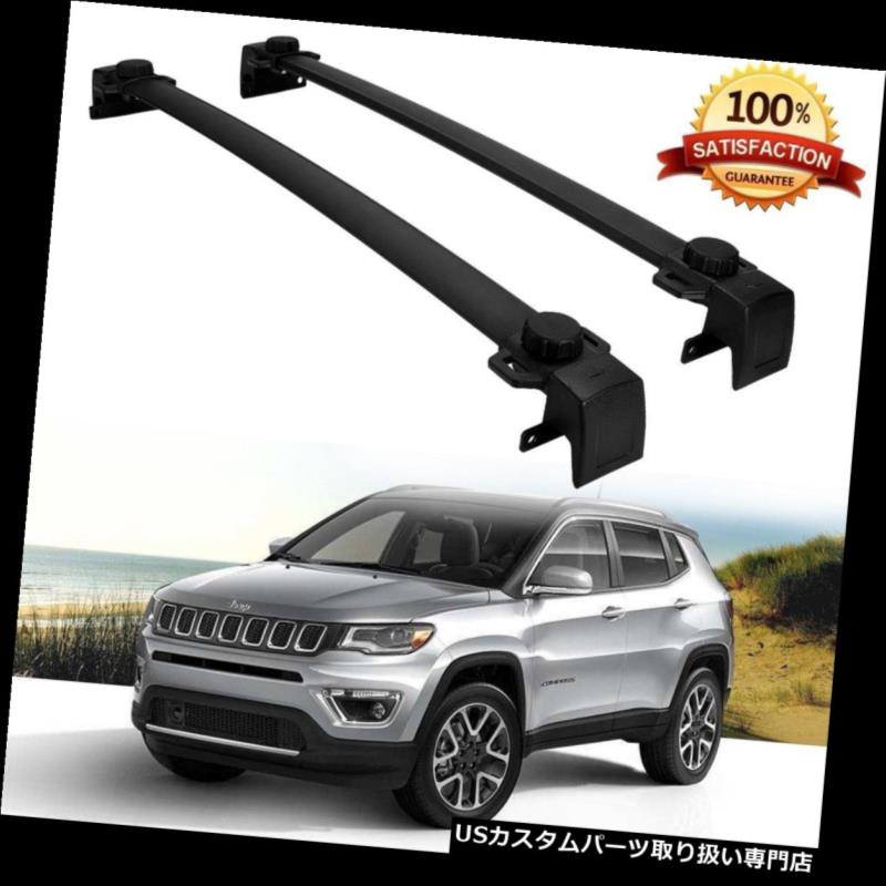 Aluminum OE Style Roof Rack Cross Bar Carrier For 2017 2018 All-New Jeep Compass