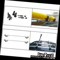 "USカーゴ、ルーフキャリア48インチクランプ調整式ルレールマウントルーフラッククロスバー+カヤックサドルキャリア48""Clamp-AdjustableRaisedRail-MountRoofRackCrossBar+KayakSaddleCarrier"