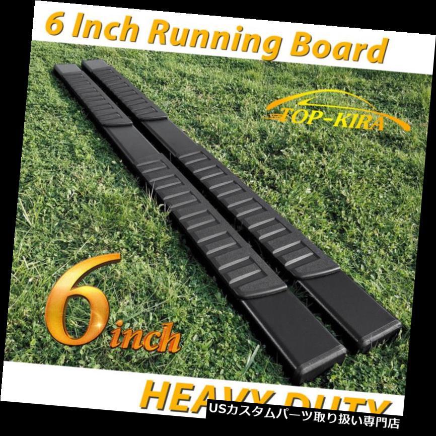 """Fit 07-18 SILVERADO//SIERRA Crew Cab 6/"""" Black Side Step Running Board Nerf Bar H"""
