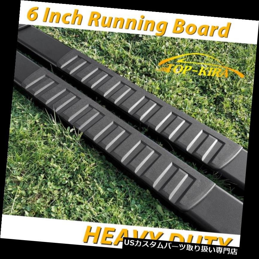 """For 17-19 Ford F250 Superduty Crew Cab 6/"""" Running Board Nerf Bar Side Step BLK H"""