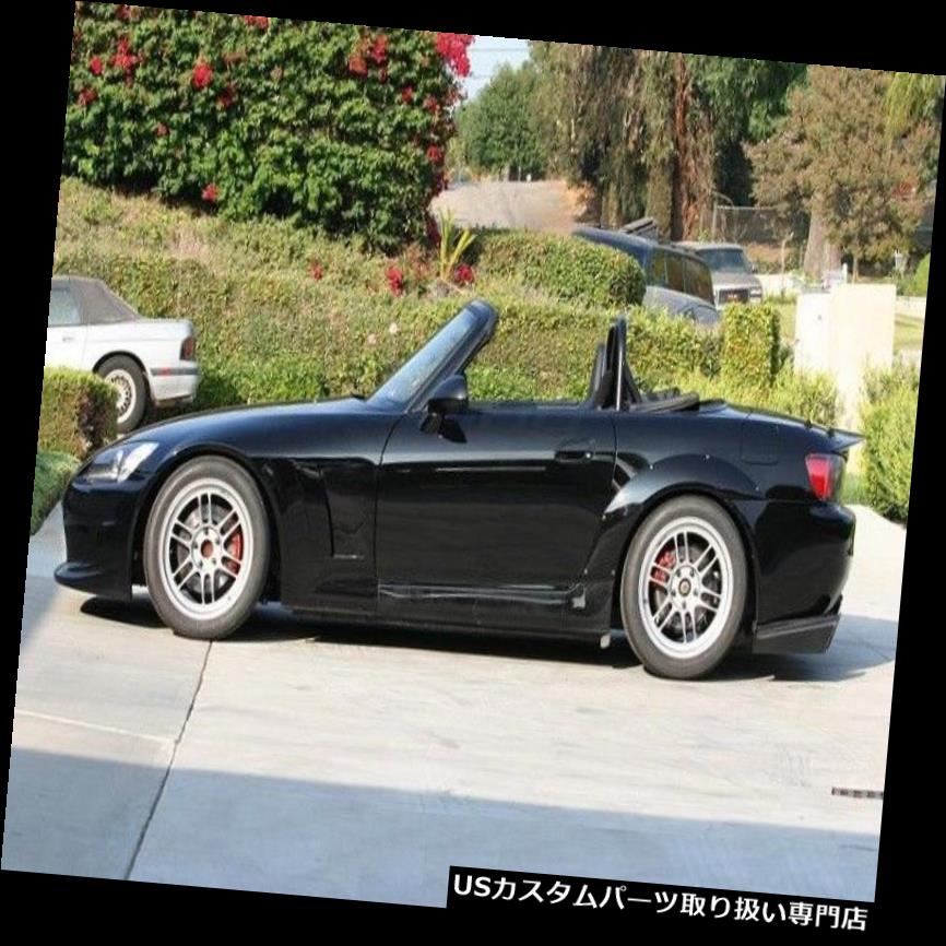 外装・エアロパーツ, オーバーフェンダー  S2000 ASM ISDFRP FRP Fiber Rear Wheel Arch Fender Flares Kit For Honda S2000 ASM ISD Unpainted