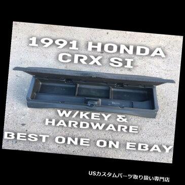 リアーカーゴカバー 1991ホンダCRX Si HF OEMリアカーゴコンパートメント収納ラッチキーカバー1988-91 1991 Honda CRX Si HF OEM Rear Cargo Compartment Storage Latch Key Cover 1988-91