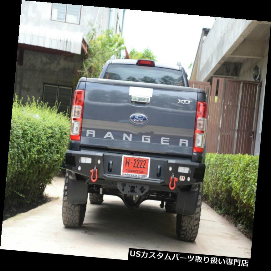 外装・エアロパーツ, その他  T6 2012 2018LED Hamer Rear Step Bar Bumper Steel with LED Fog Lamp For Ford Ranger T6 2012 2018
