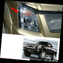 ヘッドライトカバー ヘッドランプライトランプカバートリムクロームフィットいすゞD-Maxピックアップ2007 - 2011 Head Lamp Light Lamp Cover Trim Chrome Fits Isuzu D-Max Pickup 2007 - 2011