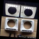 ヘッドライトカバー ベンツW463 Gクラス用LED DRL付き1ペアホワイトクロームメッキヘッドライトランプカバー 1Pair White Chromed Head Light Lamp Covers with LED DRL For Benz W463 G-Class