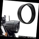 """トライク カバー 5.75 """"ブラックヘッドライトベゼルはハーレートライク2008-2013用トリムリングカバーを飾る 5.75"""" Black Headlight Bezel Decorate Trim Ring Cover for Harley Trike 2008-2013"""