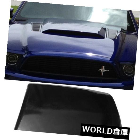 外装・エアロパーツ, その他 US 13-142Dr V6 GTPU For 13-14 Ford Mustang 2Dr V6 GT Boss Air Hood Vent Scoop Unpainted Black PU