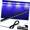 LEDライトバー ホワイトブルー35.5インチ32 LED緊急警告フラ...