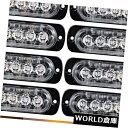 LEDライトバー 10xアンバー6 LED警告危険緊急フラッシュ注意...