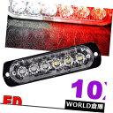 LEDライトバー 10個6 LED赤白緊急警告ハザードフラッシュグリ...