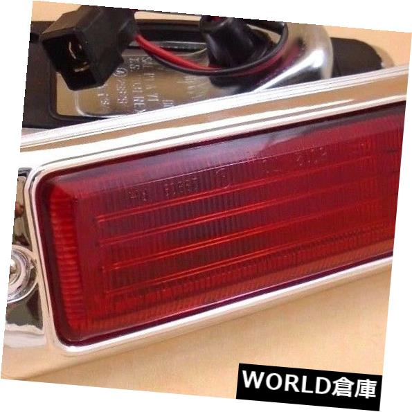 ライト・ランプ, ウインカー・サイドマーカー  MAZDA 808 RX3 RX-31971-1978 MAZDA 808 RX3 RX-3 TURN LIGHT FENDER RED SIDE MARKER LIGHT CHROME PAIR 1971-1978