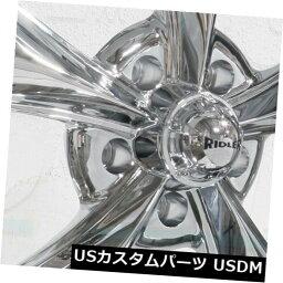 海外輸入ホイール 17x8リドラー695 5x5 / 5x127 0クロームホイールリムセット(4) 17x8 Ridler 695 5x5/5x127 0 Chrome Wheels Rims Set(4)