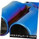 マフラーカッター 車の転がされた青い53mm Diaの二重出口の排...