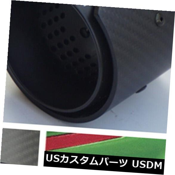 マフラーカッター 1ピース71MM IN 93MM OUTオールブラックマットリアルカーボンファイバーエキゾーストパイプエンドチップ 1 Pcs 71MM IN 93MM OUT All Black Matte Real Carbon Fiber Exhaust Pipe End tip画像