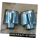 マフラーカッター 未使用の304ステンレス鋼製排気チップ2.5