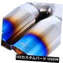 マフラーカッター 青く焼けたスチール製排気チップデュアルダ...