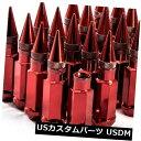 USナット 92mm AodHan XT92 12X1.25スチールレッドスパイクラ...