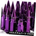 USナット 92mm AodHan XT92 12X1.5スチールパープルスパイク...