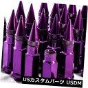USナット 92mm AodHan XT92 12X1.25スチールパープルスパイク...