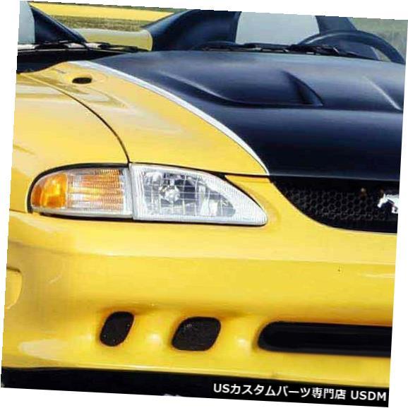 Front Bumper 94-98フォードマスタングサリーンスタイルKBDウレタンフロントボディキットバンパー!!! 37-2044 94-98 Ford Mustang Sallen Style KBD Urethane Front Body Kit Bumper!!! 37-2044