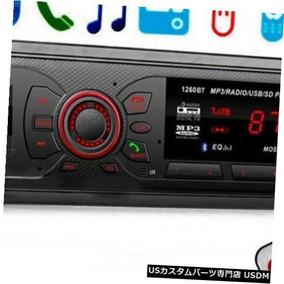 ポータブルオーディオプレーヤー, デジタルオーディオプレーヤー In-Dash MP3AUXBluetooth FMSD USB In-Dash Car Stereo Audio MP3 Player Aux Input Receiver Bluetooth FM Radio SD USB