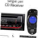 In-Dash JVCステレオカーシングルDINインダッシュCD MP3カー...