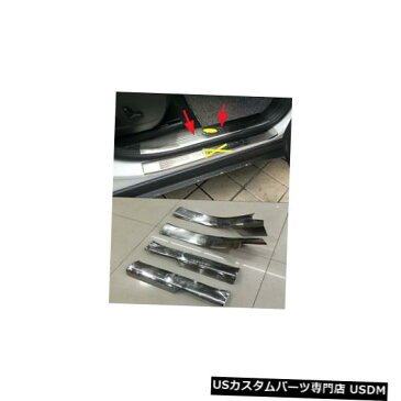 Front Bumper Cover 2014-2018ジープチェロキーカバートリムスカッフプレート用ドアシルバンパープロテクター Door Sill Bumper Protector for 2014-2018 Jeep Cherokee Cover Trim Scuff Plate