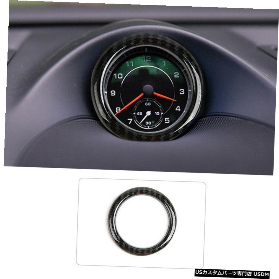 外装・エアロパーツ, その他  112017 FOR Porsche Cayenne 11-2017 carbon fiber car inner Clock circle Compass circle