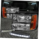 グリル CLEAR LENSヘッドライト+ AMBER CORNER + 07から14 GM...