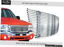 グリル Fits 2003-2006 GMCシエラ1500/2500 W / Oロゴ表示ス...