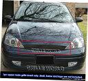 グリル Fits 2000-2004フォードフォーカスブラックビレットメ...