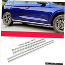 クロームメッキ Chrome Stainless Side Door Body Molding De...
