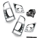 クロームメッキ Head + Tail Lamp Light Cover Chrome For Is...