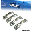 クロームメッキ 4X Doors w/ Smart Keyhole Chrome Door Hand...