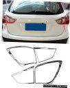 クロームメッキ ABS Rear Tail Light Lamp Chrome Cover Trim...