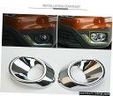 クロームメッキ Front Fog Light Lamp Chrome Cover Trim 2pc...