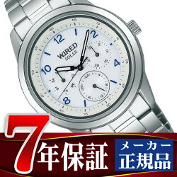 【SEIKOWIRED】セイコーワイアードソーラー腕時計メンズペアスタイルホワイトAGAD082