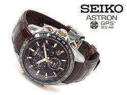 【SEIKOASTRON】セイコーアストロンメンズ腕時計ソーラーGPS衛星電波クロノグラフワールドタイムブラウンコンフォテックスSBXB025