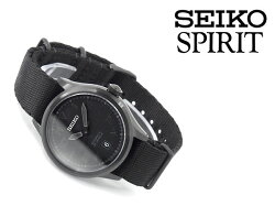 【SEIKOSPIRITSMART】セイコースピリットスマートnano・universeナノ・ユニバースコラボ限定モデル自動巻きメカニカル腕時計メンズブラックSCVE041