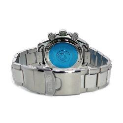 【逆輸入SEIKO】セイコーSEIKOクロノソーラーメンズ腕時計SSC237P1グリーン/オレンジ