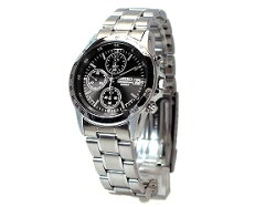 【SEIKO】セイコー高速クロノグラフ腕時計ブラック文字盤[SND367P1]