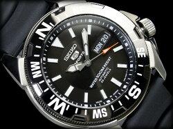 【日本製輸入SEIKO5SPORTS】セイコー5メンズダイバーズ自動巻き腕時計SNE81J2