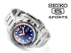 【日本製SEIKO5SPORTS】セイコー5スポーツLimitedEdition手巻き付き機械式メンズ腕時計ブラックレザーベルトSRP719J1