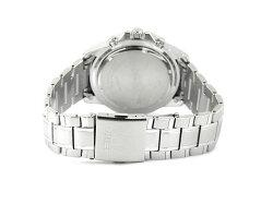 【逆輸入SEIKO】セイコーメンズアラームクロノグラフソーラー腕時計ブラックダイアルシルバーステンレスベルトSSC147P1