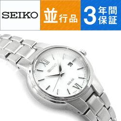 【逆輸入SEIKO】セイコーソーラーレディース腕時計ホワイトダイアルシルバーステンレスベルトSUT227P1【】