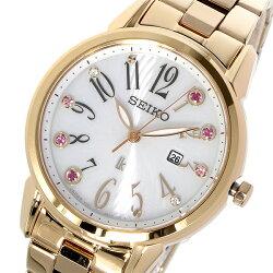 セイコーSEIKOルキアLUKIAソーラークオーツレディース腕時計SUT302J1ホワイト