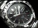 【AYC】【逆輸入SEIKO5SPORTS】セイコー5スポーツ メンズ自動巻き腕時計 シルバーダイアル シルバーステンレスベルト SNZJ03J1