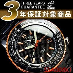 【逆輸入SEIKOSUPERIOR】セイコーメンズパイロット自動巻き式腕時計ブラックダイアルブラックステンレスSSA008K1