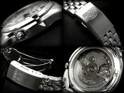 【逆輸入SEIKO5】セイコー5メンズ自動巻き腕時計シルバーダイアルシルバーステンレスベルトSNK355K1